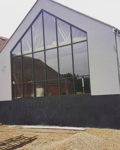 Façade - Mur Rideau Alu Noir