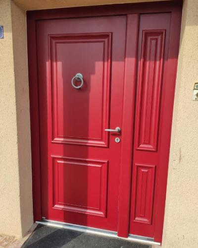 Porte d'entrée BEL'M Rouge