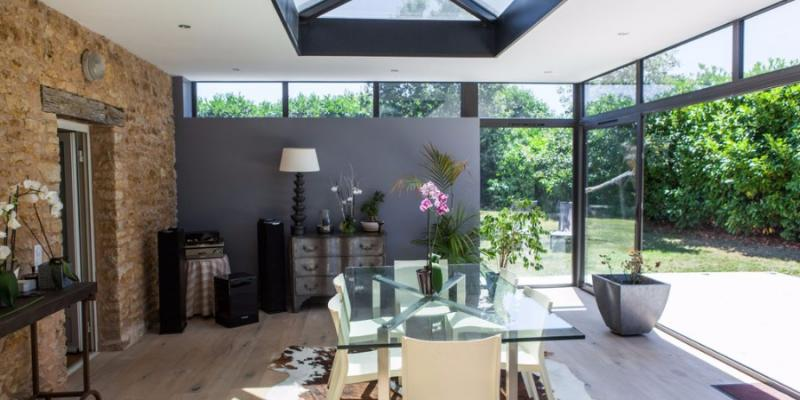 Véranda Aluminium Gris Confort 2 Vie - Puit de lumière
