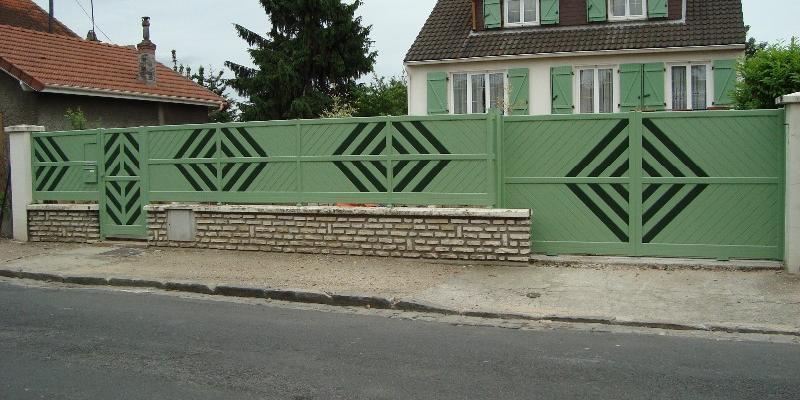 Portail Aluminium Vert