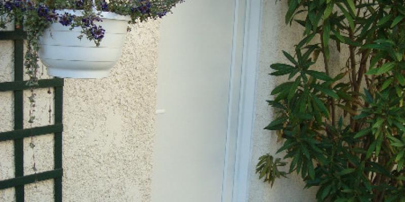Porte Panneau PVC Blanc