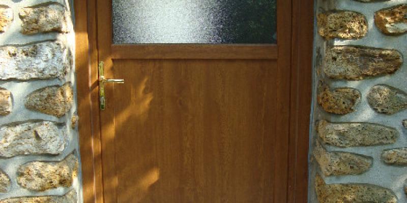 Porte imitation Chêne doré vitrage G200