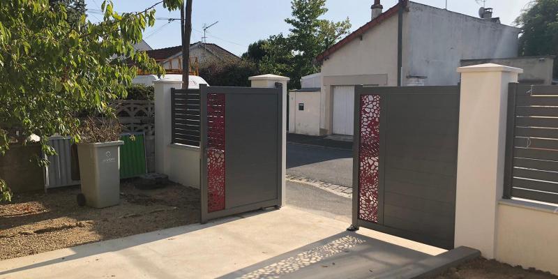 Portail et Clôture en aluminium gris anthracite