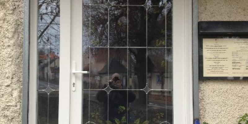 Portes d'entrée Vitrage plomb Fanyglass PVC