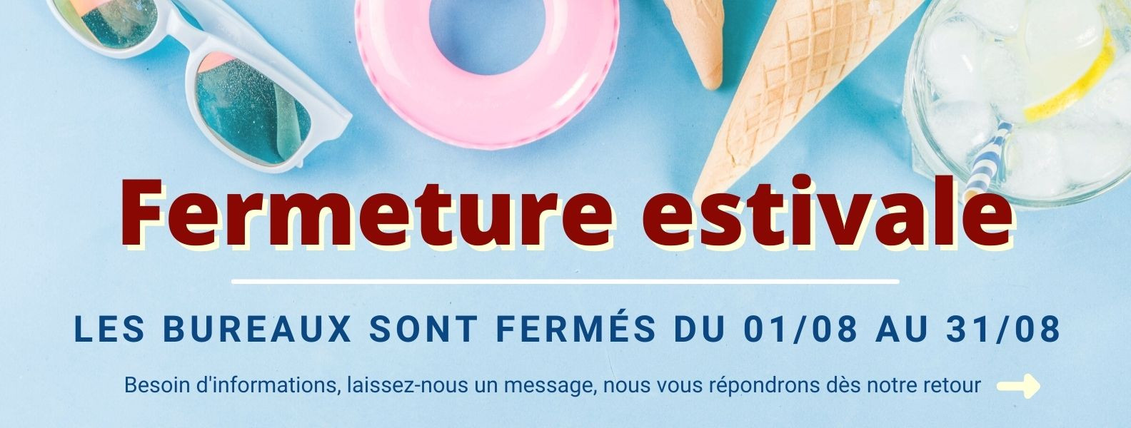 Fermeture estivale AMTb - Essonne 91
