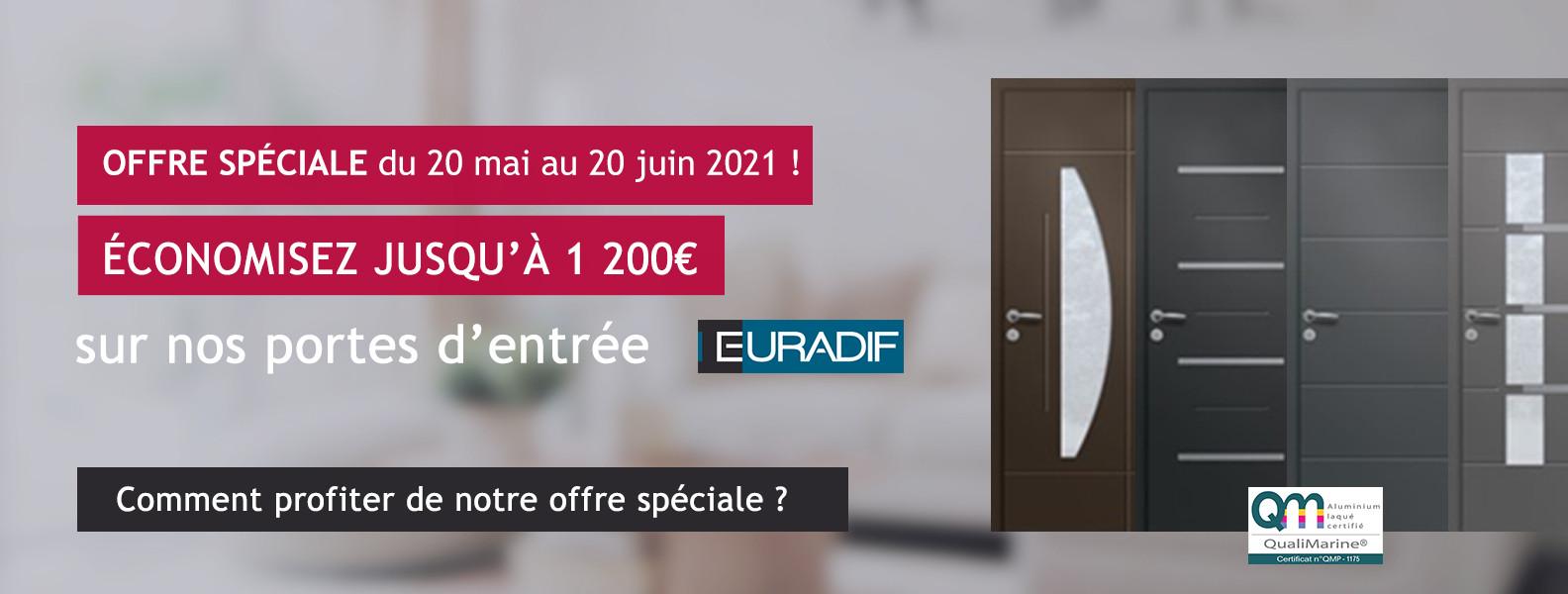 Offre Porte d'entrée Euradif Mai Juin 2021